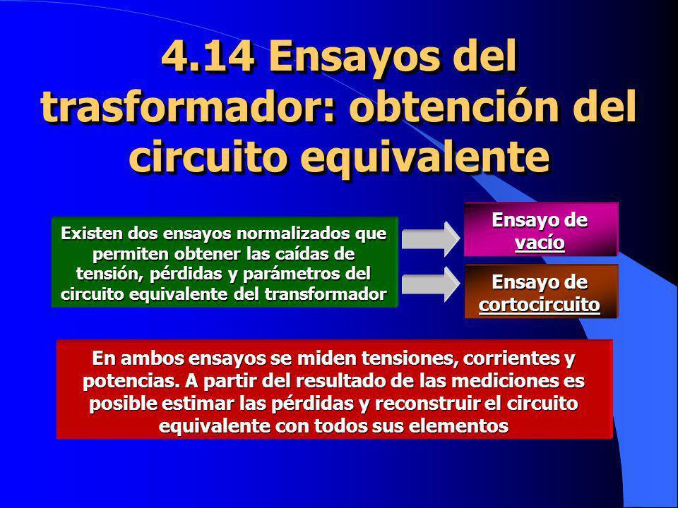 4.14 Ensayos del trasformador: obtención del circuito equivalente