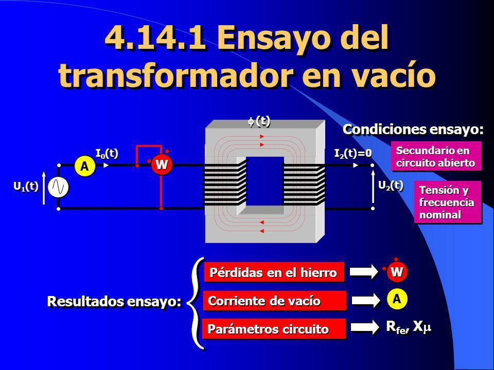 4.14.1 Ensayo del transformador en vacío
