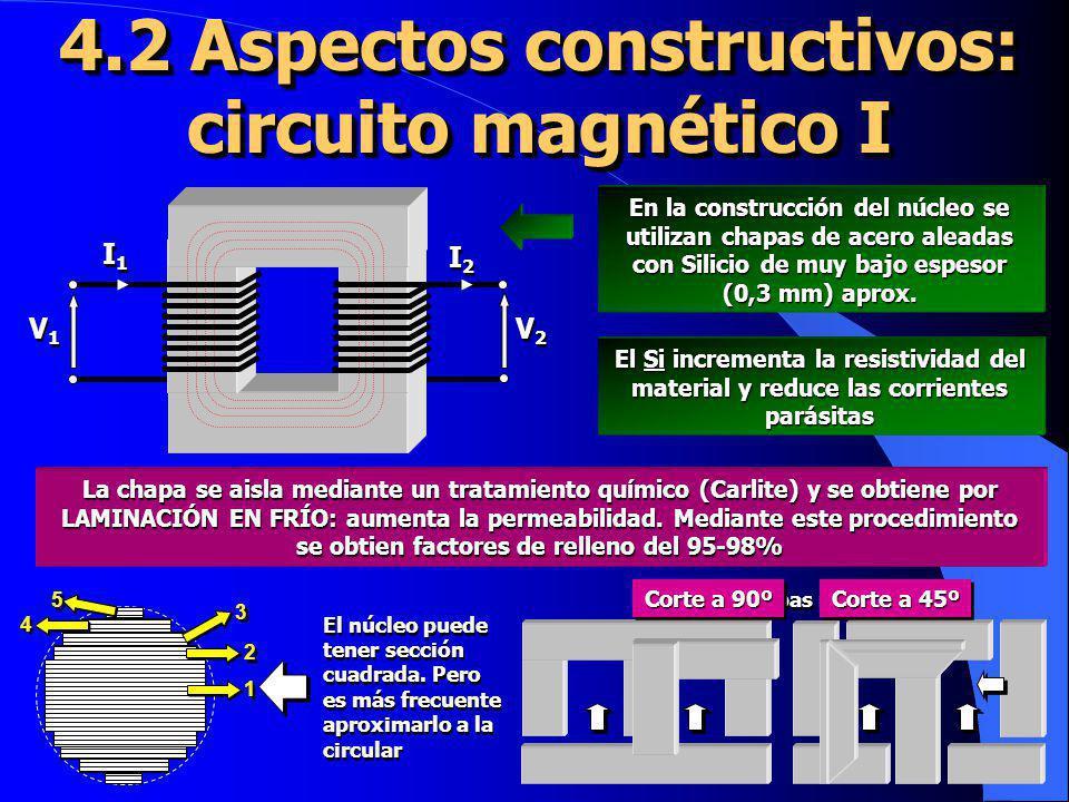 4.2 Aspectos constructivos: circuito magnético I
