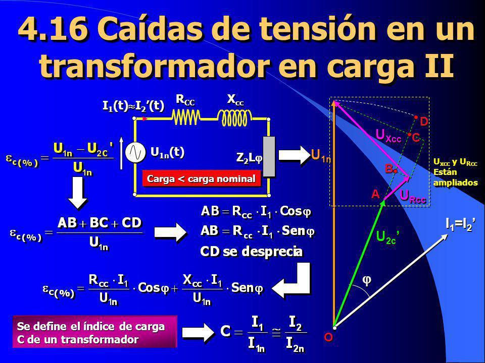 4.16 Caídas de tensión en un transformador en carga II