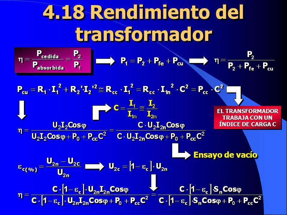 4.18 Rendimiento del transformador