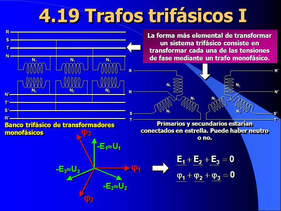 4.19 Trafos trifásicos I Banco trifásico de transformadores monofásicos.