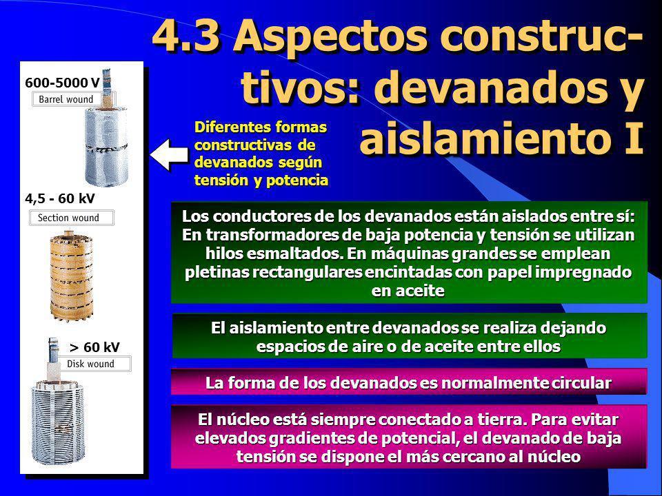 4.3 Aspectos construc-tivos: devanados y aislamiento I