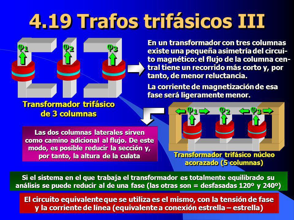 4.19 Trafos trifásicos III 1 2 3 1 2 3