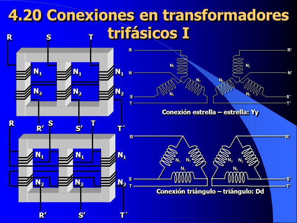 4.20 Conexiones en transformadores trifásicos I