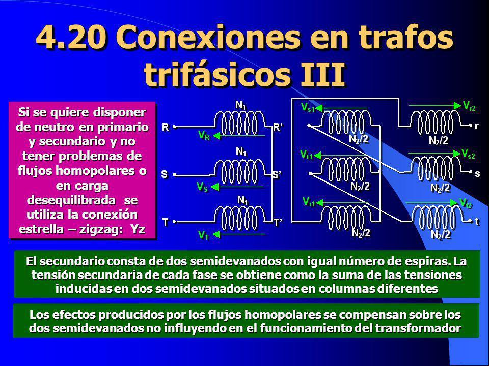 4.20 Conexiones en trafos trifásicos III