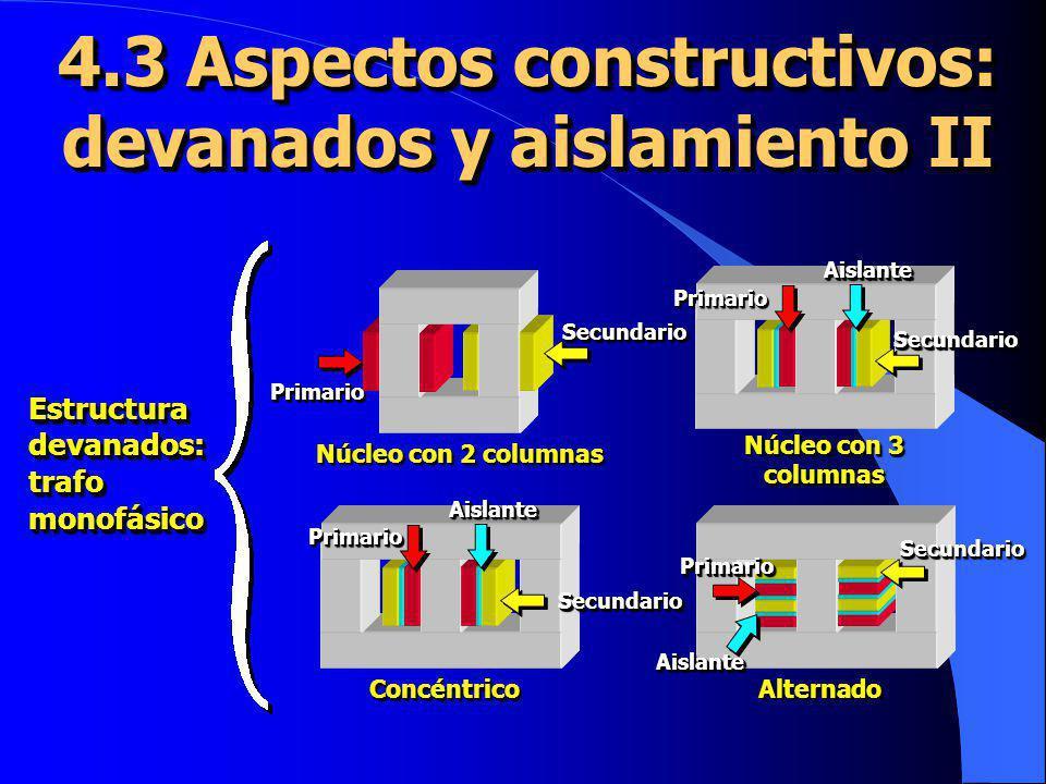 4.3 Aspectos constructivos: devanados y aislamiento II