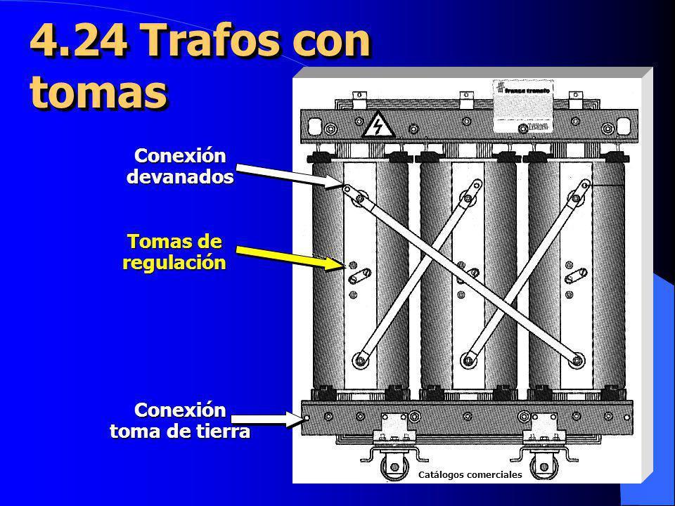 4.24 Trafos con tomas Conexión devanados Tomas de regulación Conexión