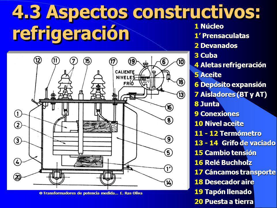4.3 Aspectos constructivos: refrigeración