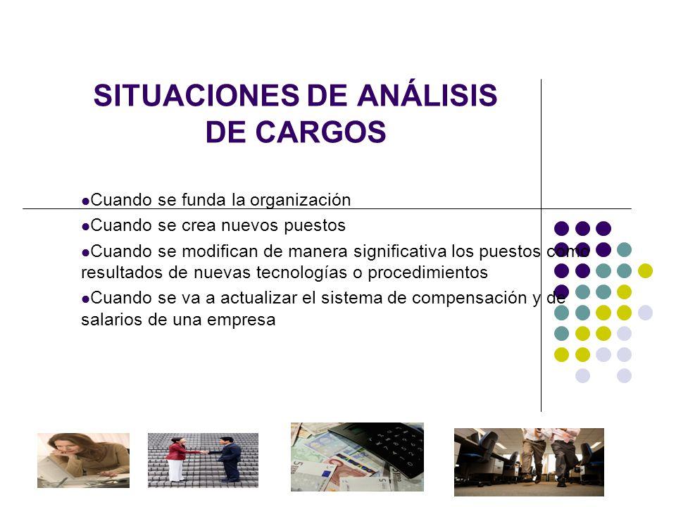 SITUACIONES DE ANÁLISIS DE CARGOS