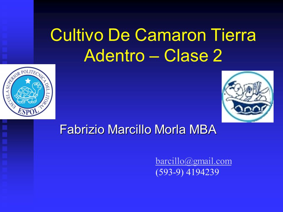 Cultivo De Camaron Tierra Adentro – Clase 2