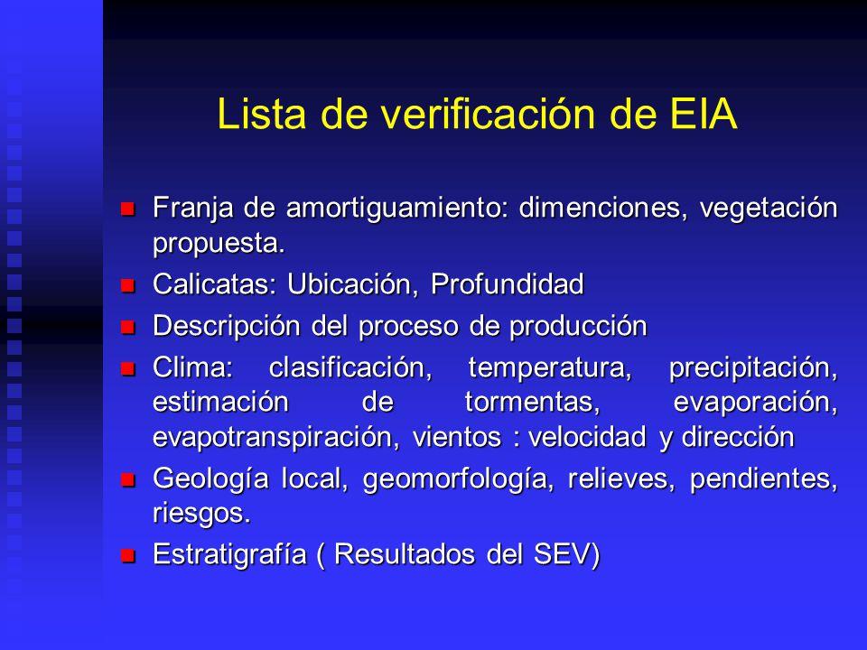 Lista de verificación de EIA