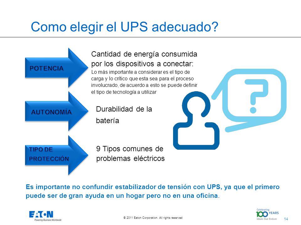 Como elegir el UPS adecuado
