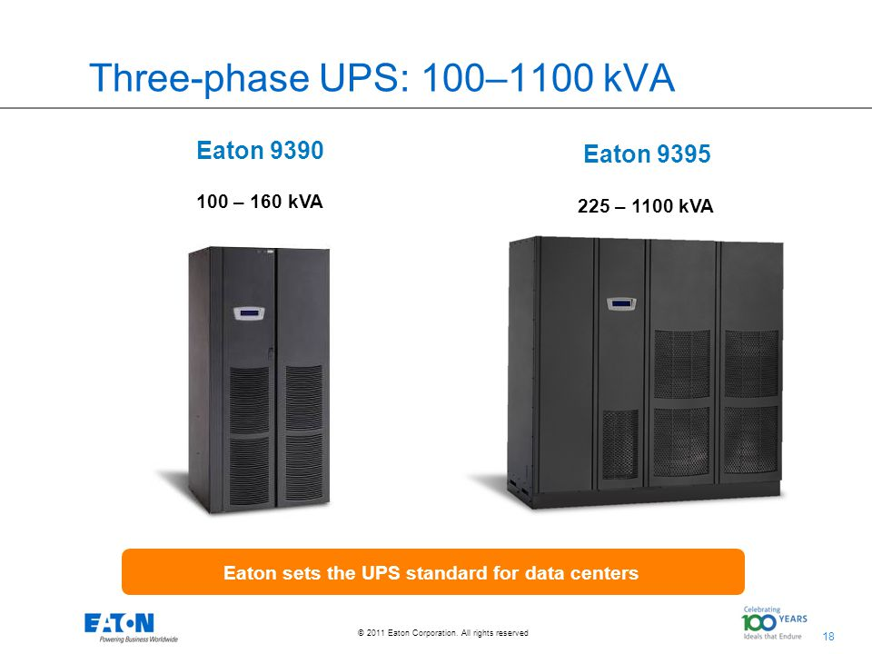 Eaton sets the UPS standard for data centers