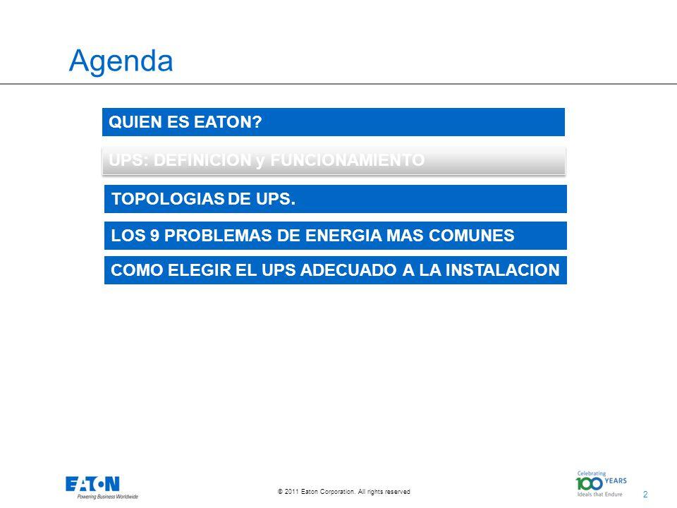 Agenda QUIEN ES EATON UPS: DEFINICION y FUNCIONAMIENTO