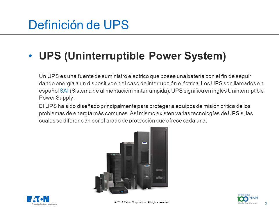 Definición de UPS UPS (Uninterruptible Power System)