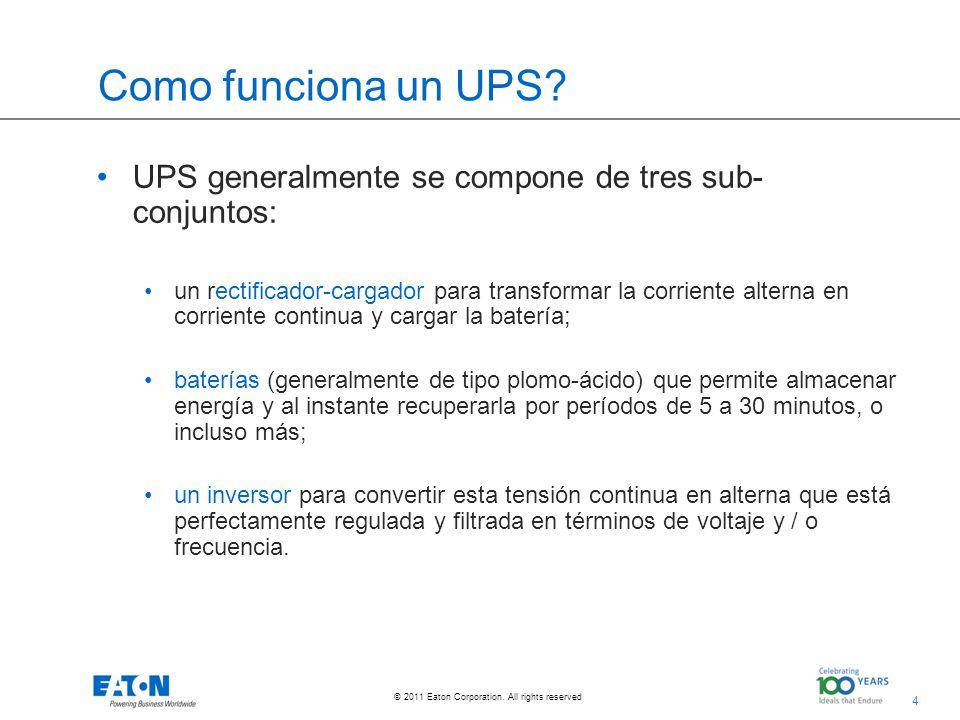 Como funciona un UPS UPS generalmente se compone de tres sub-conjuntos:
