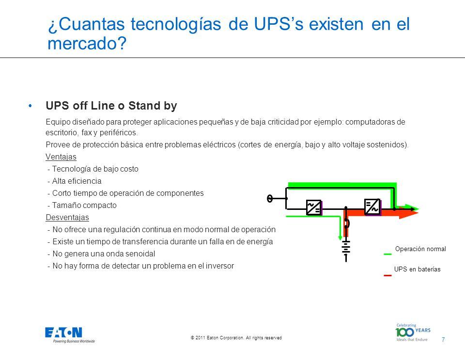 ¿Cuantas tecnologías de UPS's existen en el mercado