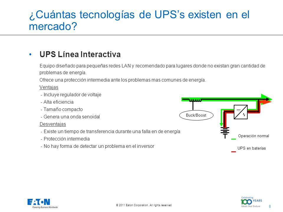 ¿Cuántas tecnologías de UPS's existen en el mercado