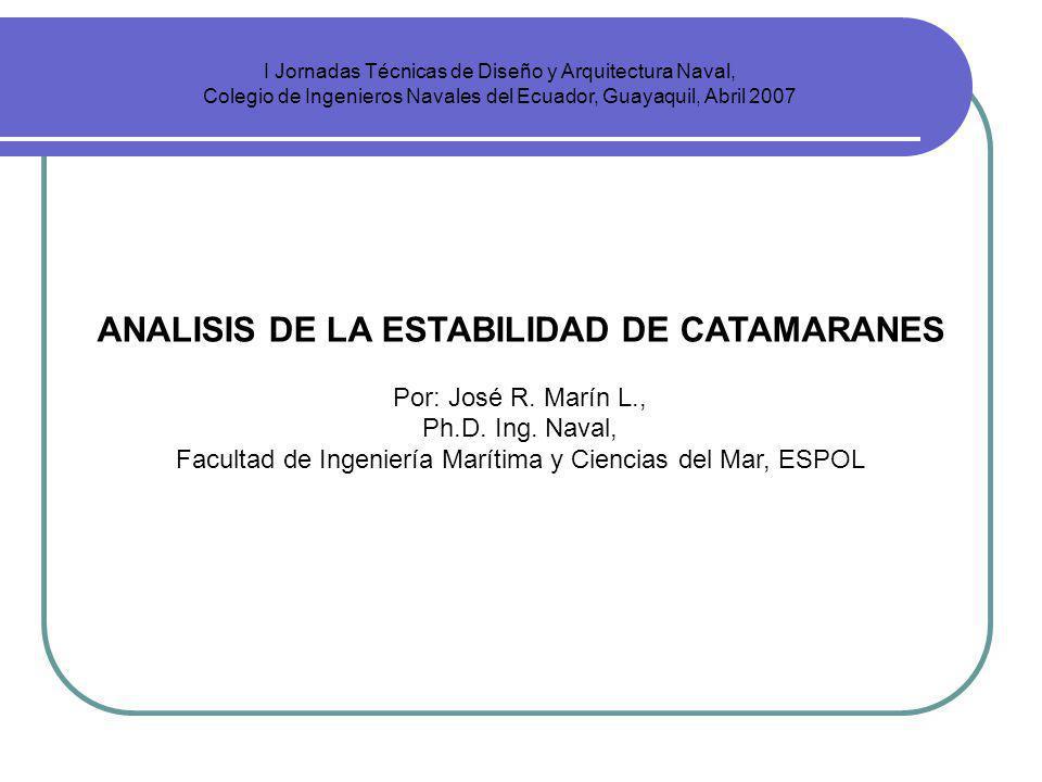 ANALISIS DE LA ESTABILIDAD DE CATAMARANES