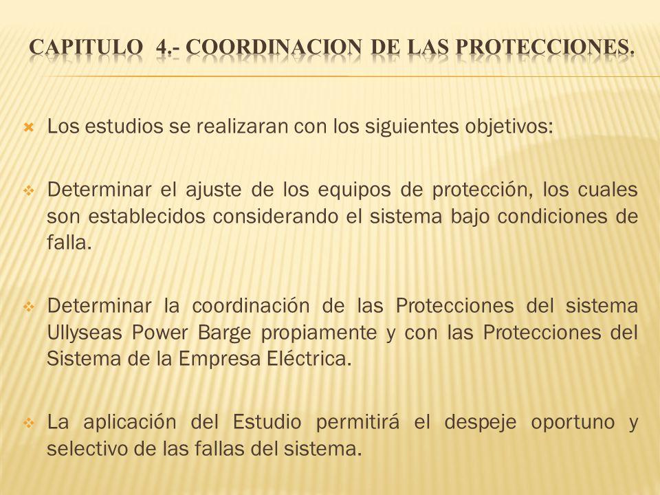 CAPITULO 4.- COORDINACION DE LAS PROTECCIONES.