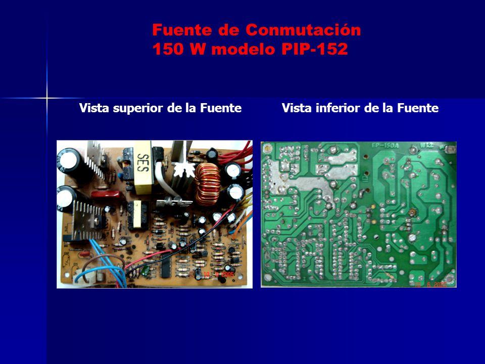 Fuente de Conmutación 150 W modelo PIP-152 Vista superior de la Fuente