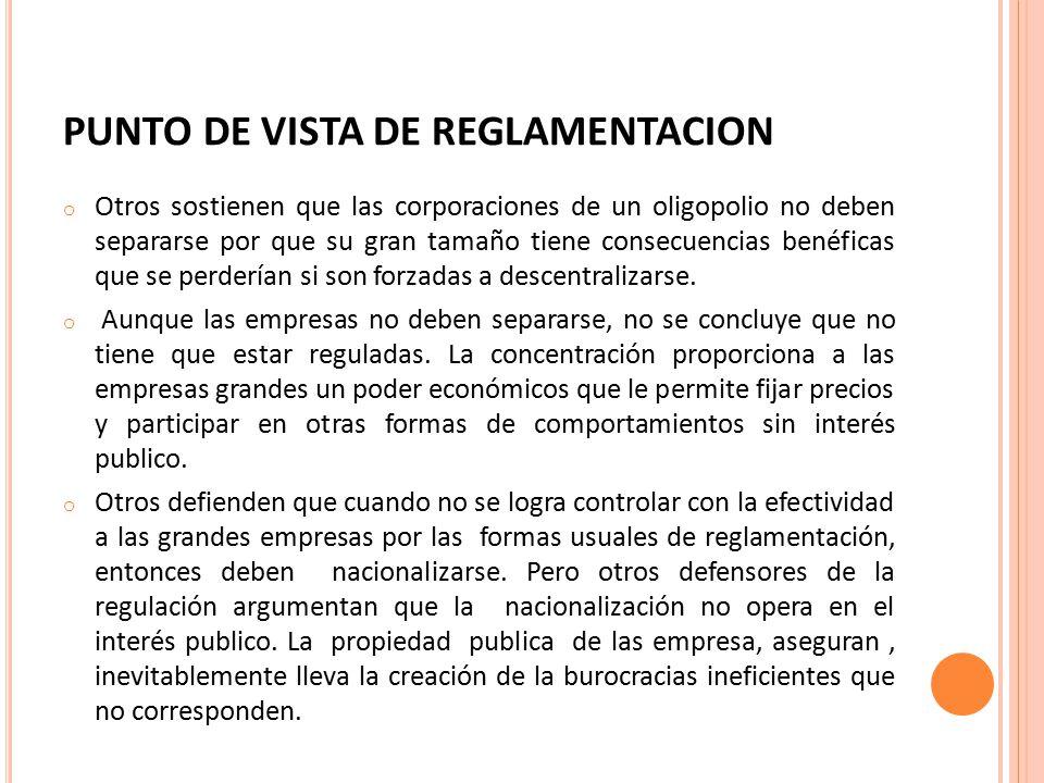 PUNTO DE VISTA DE REGLAMENTACION