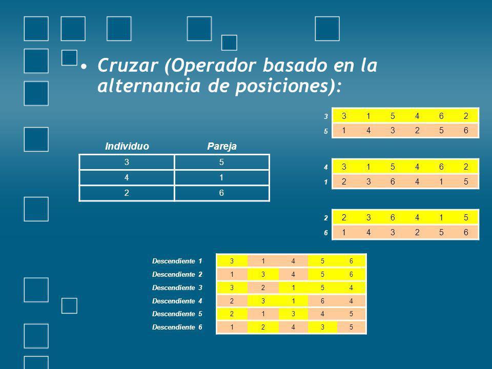 Cruzar (Operador basado en la alternancia de posiciones):