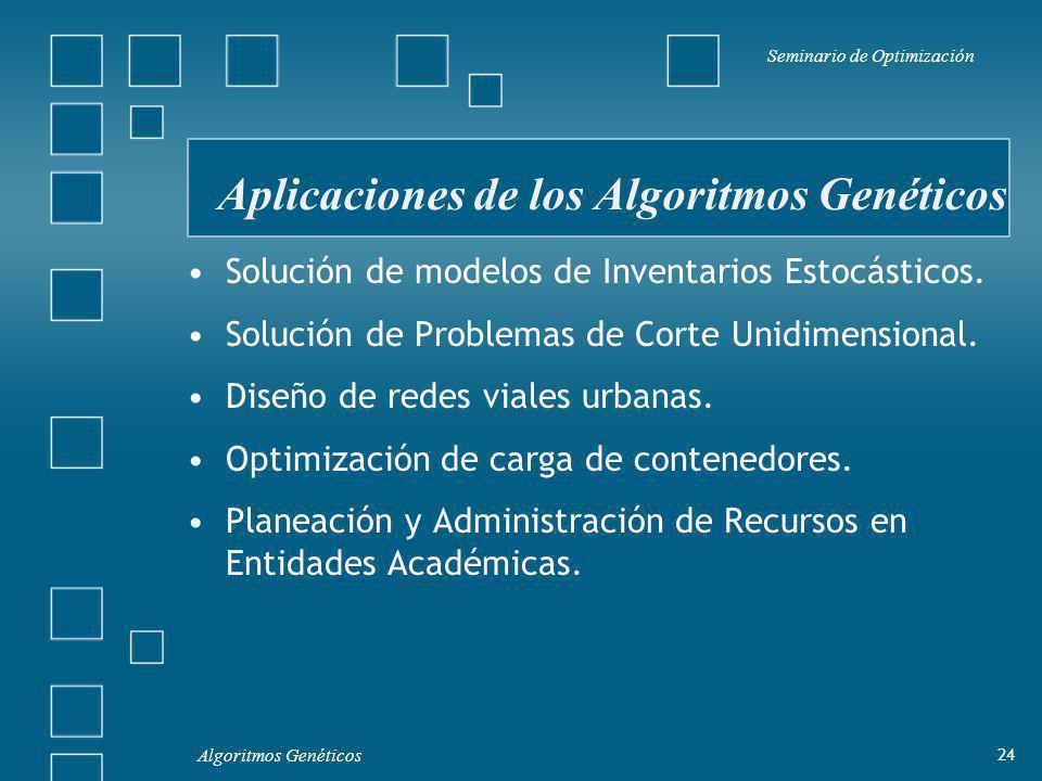 Aplicaciones de los Algoritmos Genéticos
