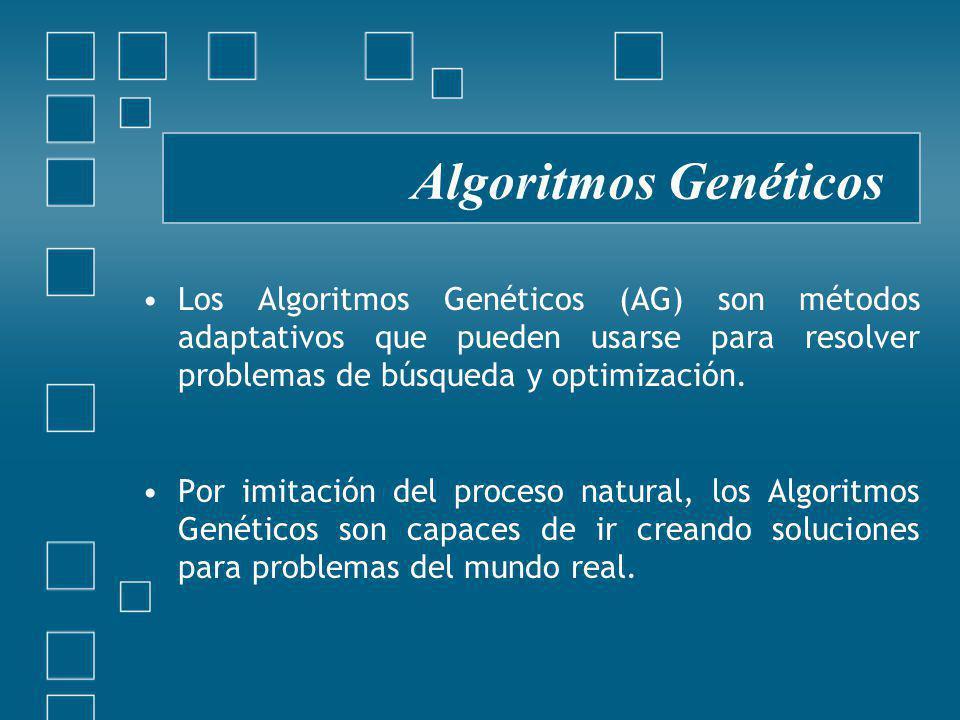 Algoritmos Genéticos Los Algoritmos Genéticos (AG) son métodos adaptativos que pueden usarse para resolver problemas de búsqueda y optimización.