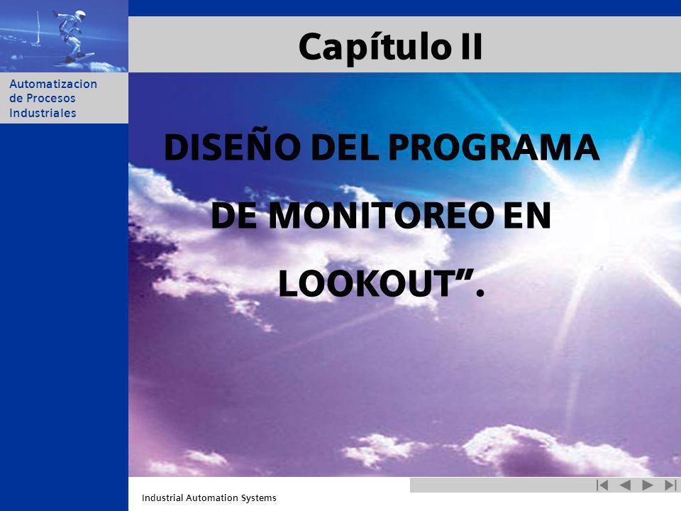 Capítulo II DISEÑO DEL PROGRAMA DE MONITOREO EN LOOKOUT .
