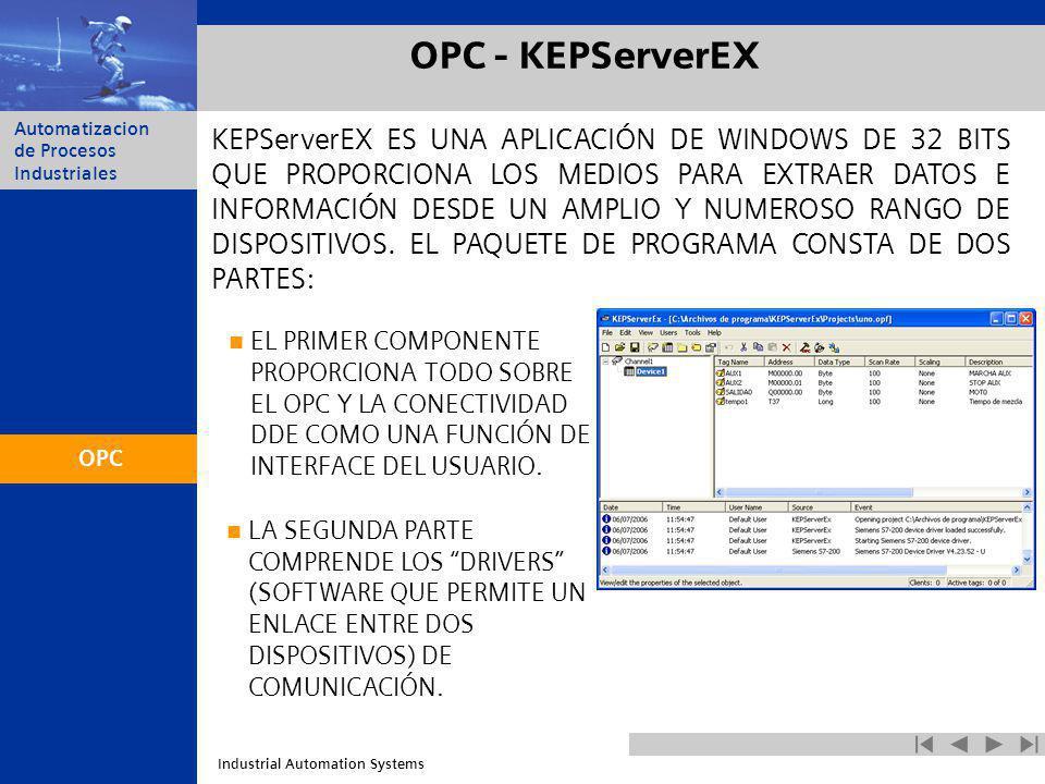 OPC - KEPServerEX