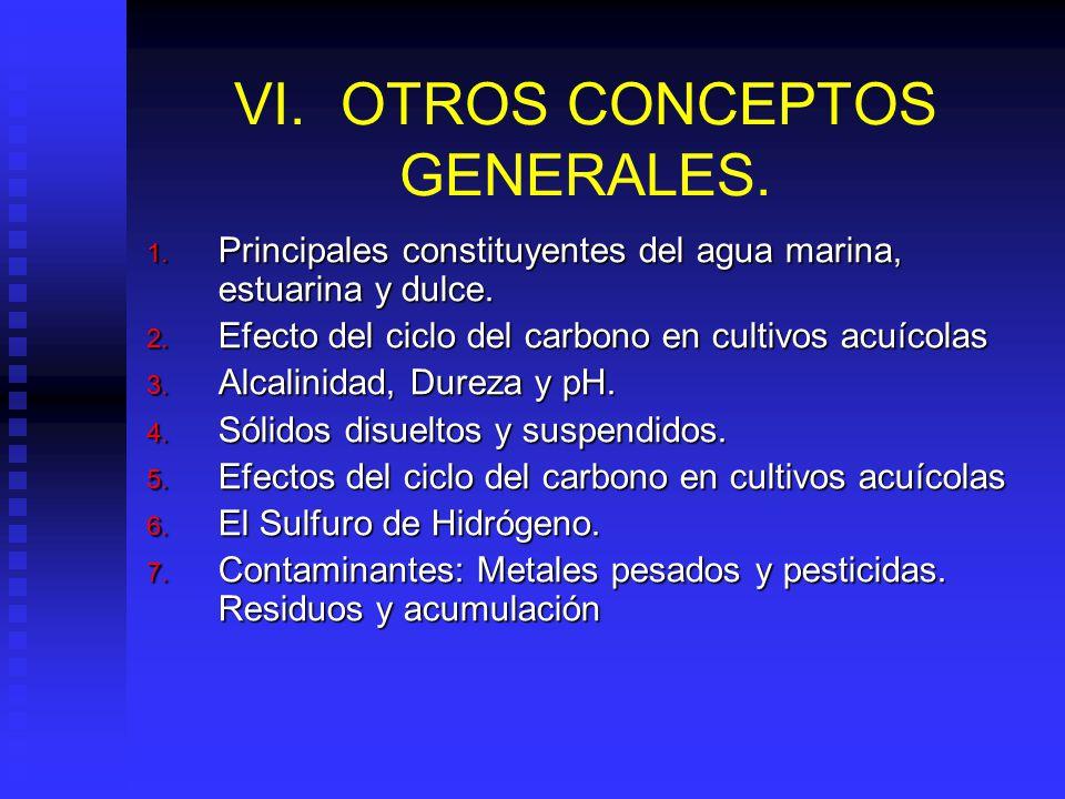 VI. OTROS CONCEPTOS GENERALES.