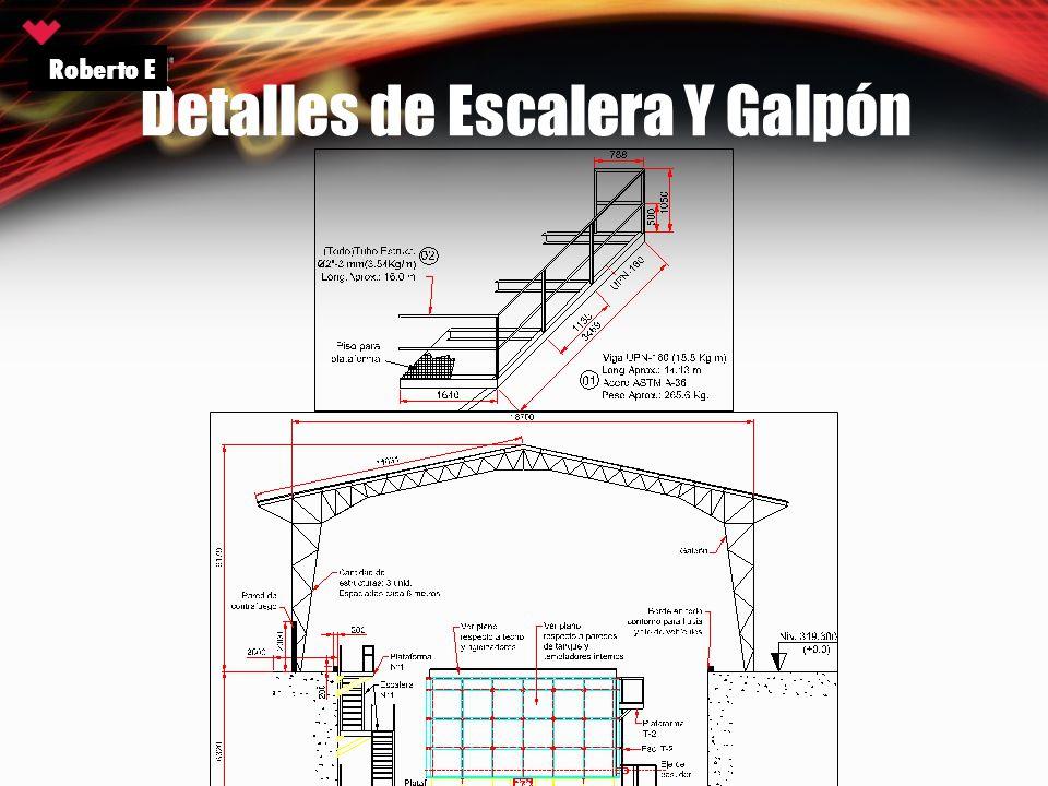 Detalles de Escalera Y Galpón