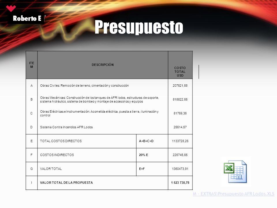 Presupuesto Roberto E M - EXTRAS\Presupuesto AFR Lodos.XLS ITEM
