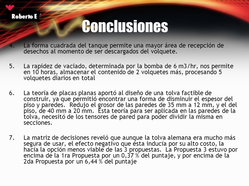 Conclusiones Roberto E