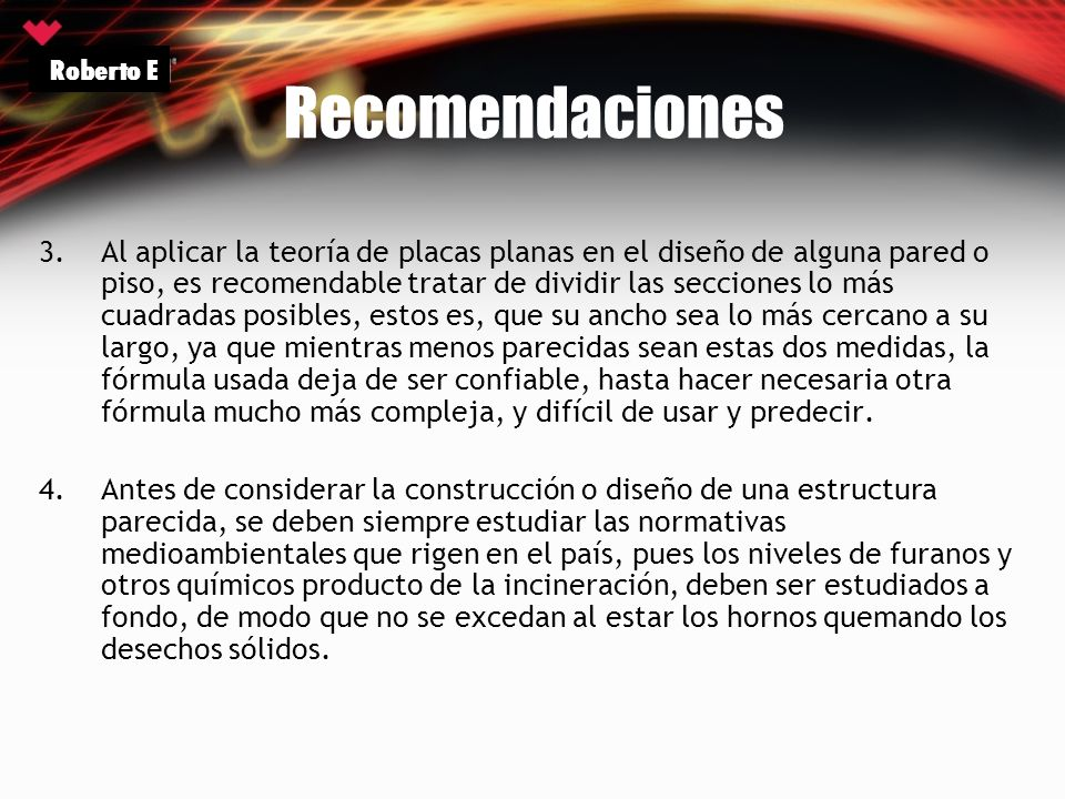 Recomendaciones Roberto E