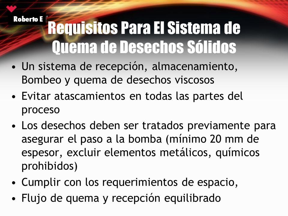 Requisitos Para El Sistema de Quema de Desechos Sólidos