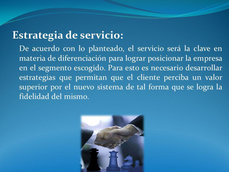 Estrategia de servicio: