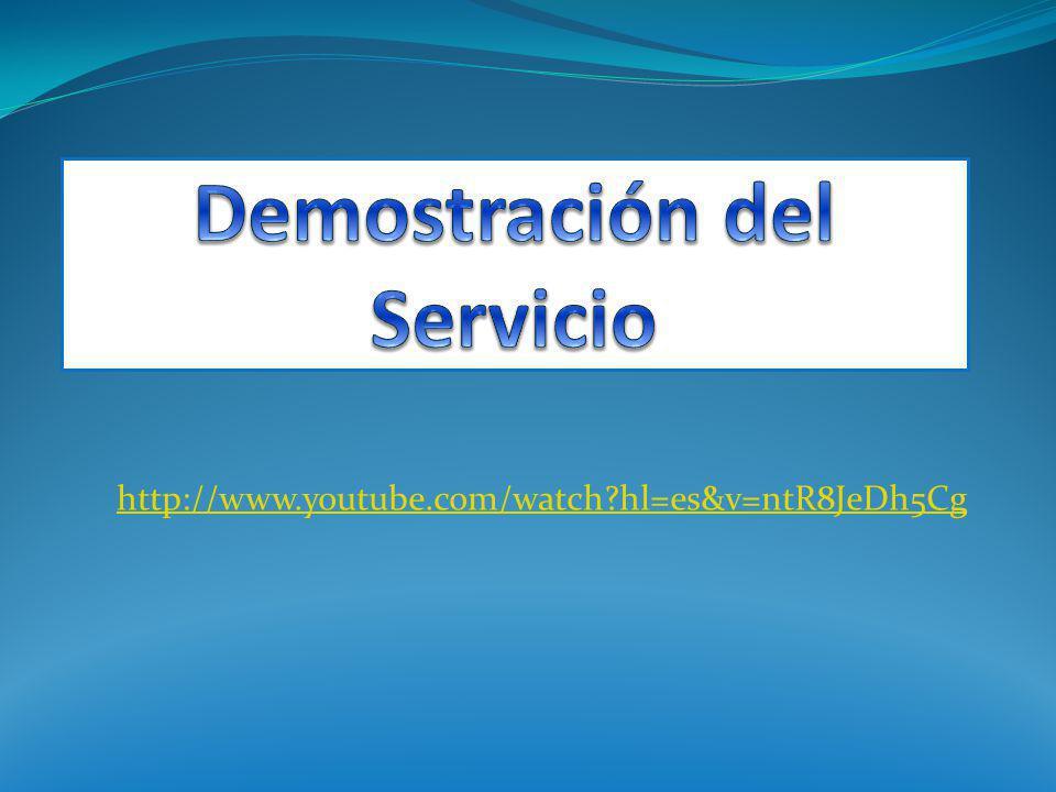 Demostración del Servicio