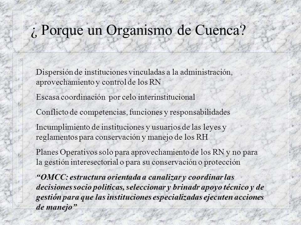 ¿ Porque un Organismo de Cuenca