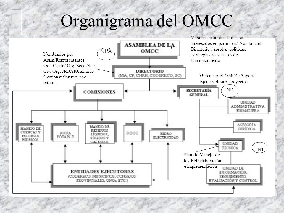 Organigrama del OMCC NPA