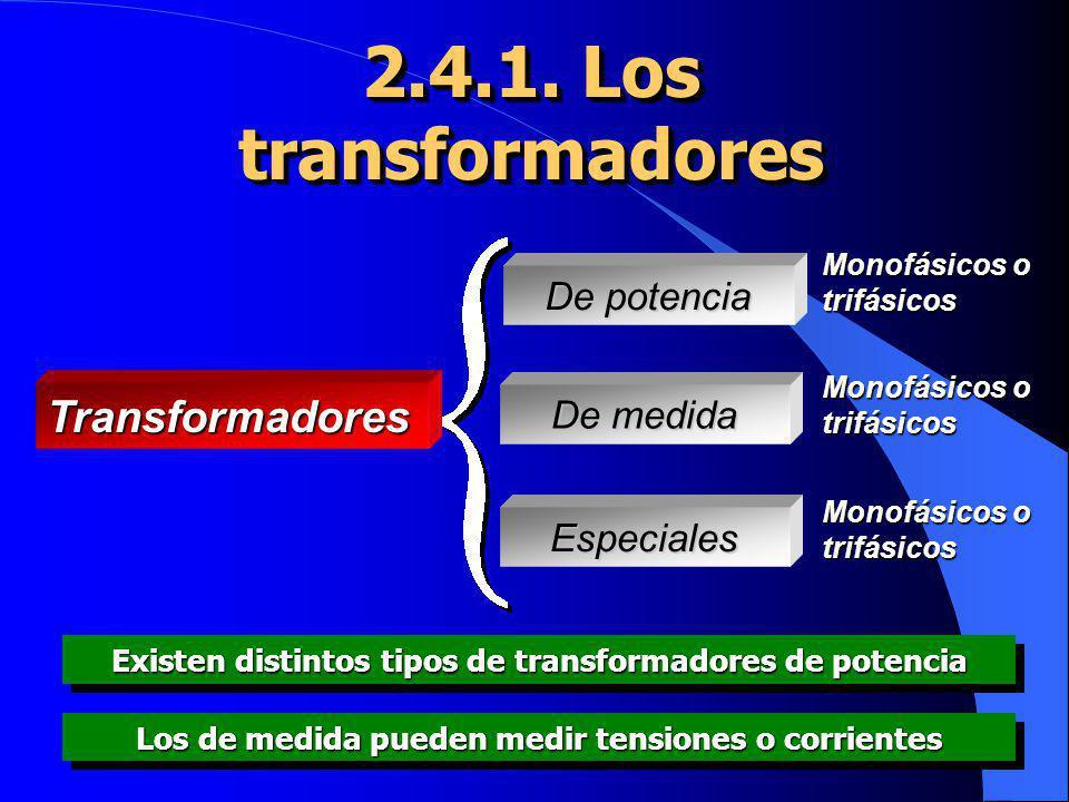 2.4.1. Los transformadores Transformadores De potencia De medida