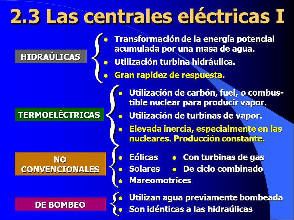 2.3 Las centrales eléctricas I