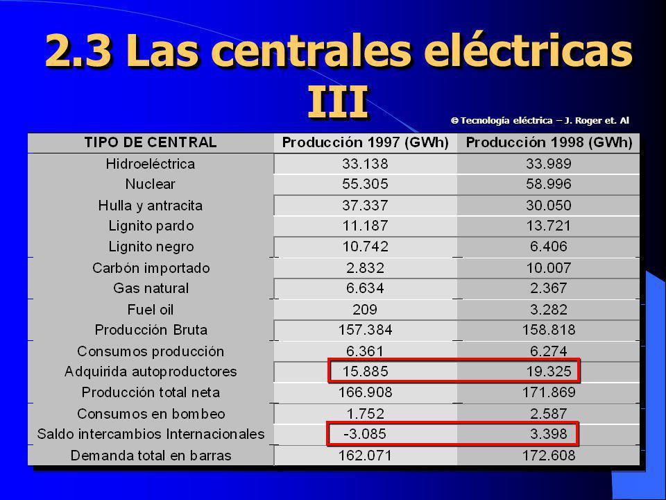 2.3 Las centrales eléctricas III