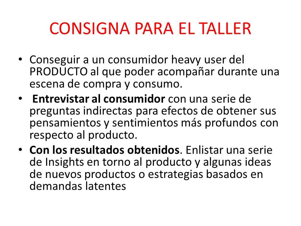 CONSIGNA PARA EL TALLER