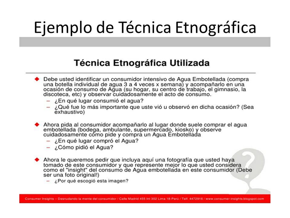 Ejemplo de Técnica Etnográfica