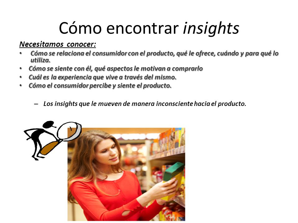 Cómo encontrar insights