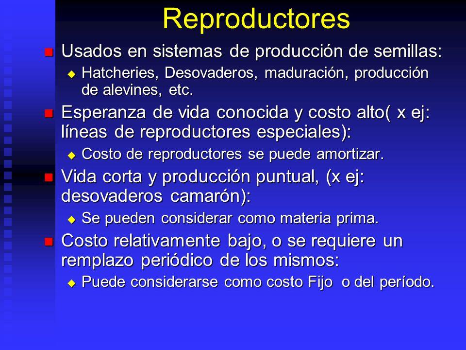Reproductores Usados en sistemas de producción de semillas: