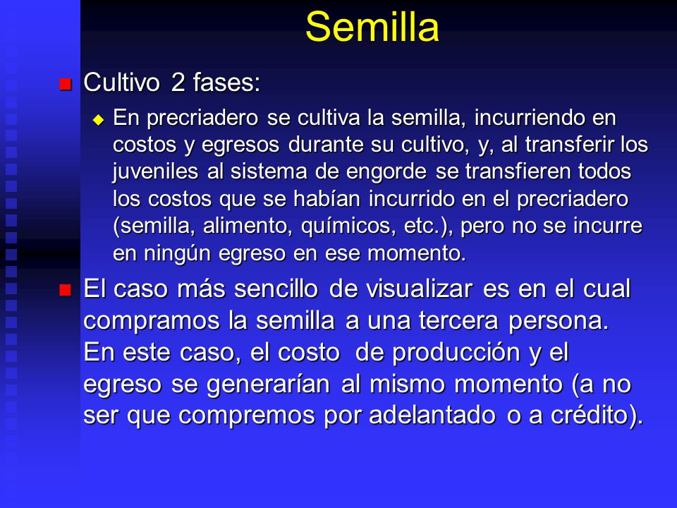 Semilla Cultivo 2 fases: